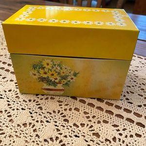 Vintage Yellow Ohio Art Recipe Box